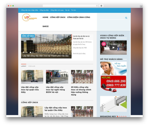 AquaMag WordPress page template - congdientudong.com