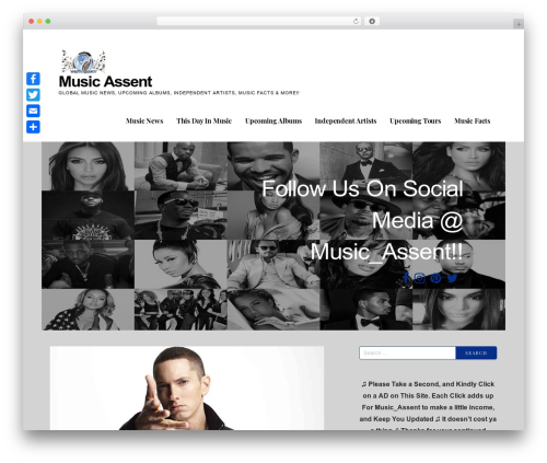 Ascension WordPress website template - musicassent.com
