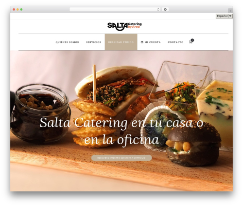 Bodega top WordPress theme - saltacatering.com