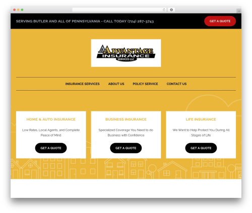 BrightFire Stellar WordPress template for business - aadvantageofbutler.com