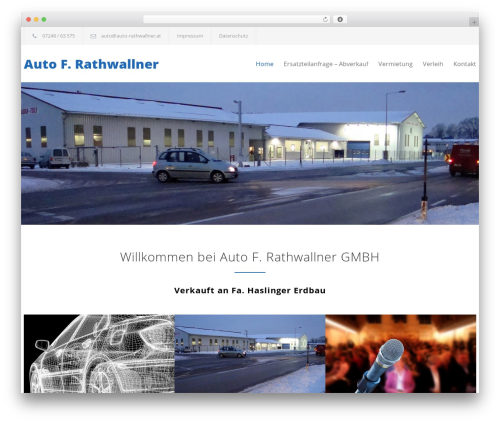 Carservice top WordPress theme - auto-rathwallner.com