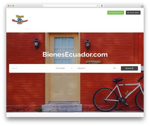 Classiera WordPress template - bienesecuador.com