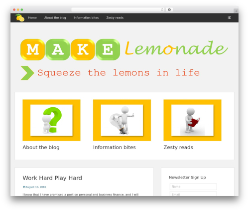 Clean Box best free WordPress theme - lemonsinlife.com