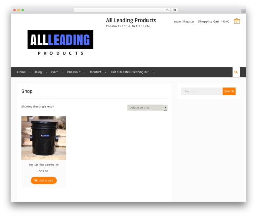 Clean Commerce WordPress template free - allleadingproducts.com