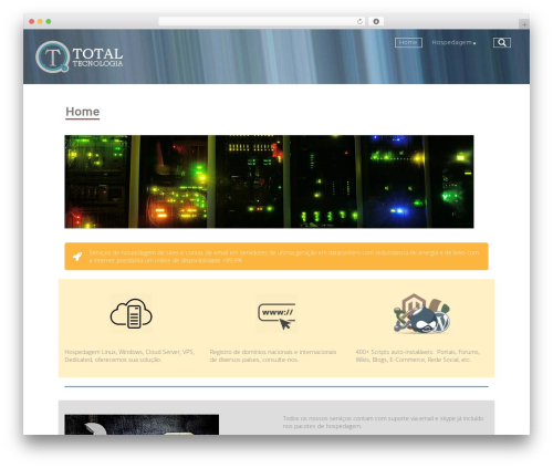 Company template WordPress free - totaltecnologia.com