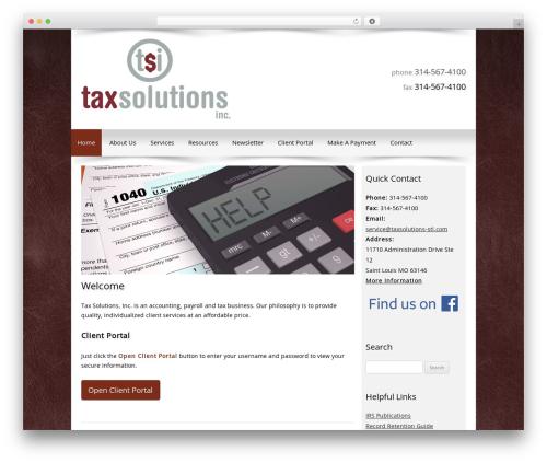 Customized best WordPress template - taxsolutions-stl.com