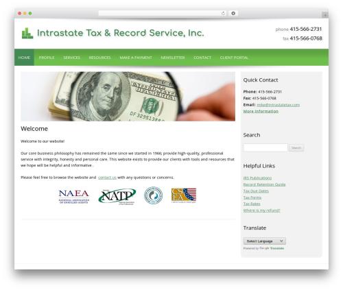 Customized WordPress template for business - intrastatetax.com