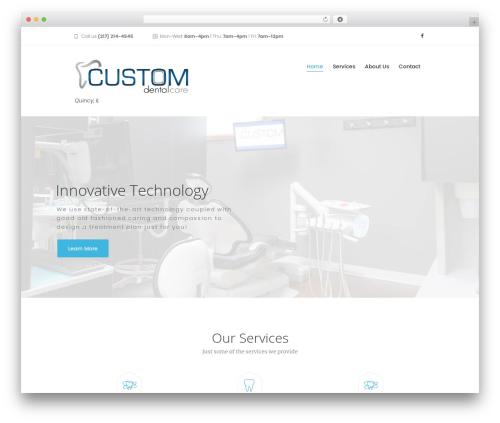 Dentario best WordPress template - customdentalcarequincy.com