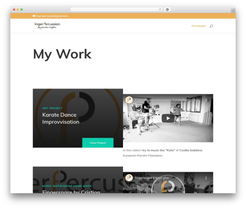Divi WordPress template - fingerpercussion.com