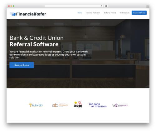 Getleads theme WordPress - financialrefer.com