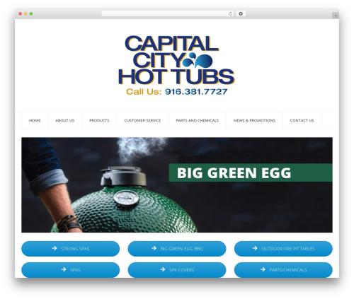 Insomnia best WordPress template - capitalcityhottubs.com