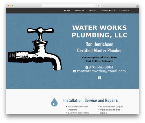 Jump Start WordPress website template - waterworksplumbingfortcollins.com