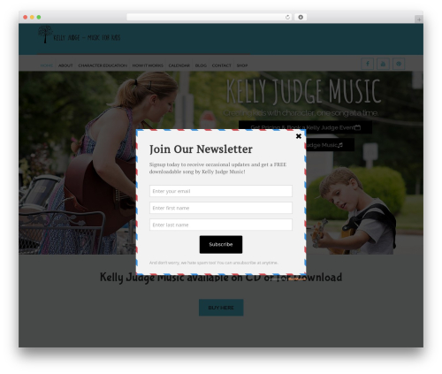 Kidslife WordPress theme design - kellyjudgemusic.com
