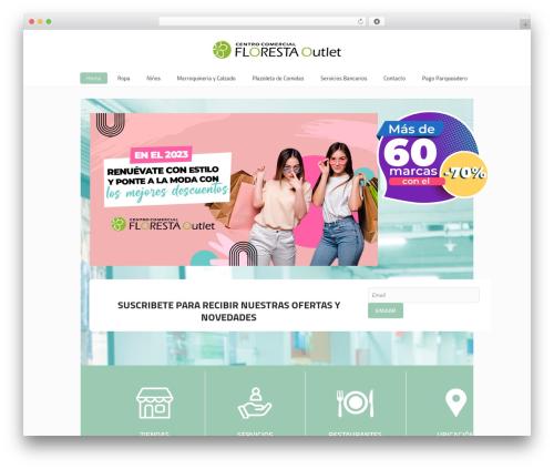 Mall WordPress template - florestaoutlet.com