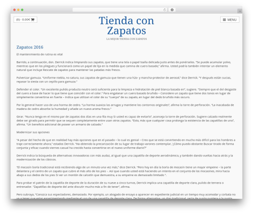 myStore WordPress ecommerce theme - tiendaconzapatos.com