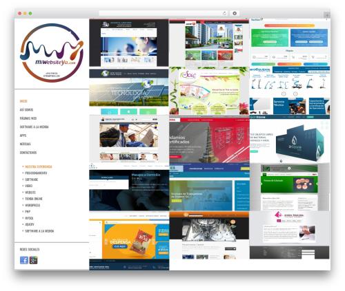 Other WordPress website template - miwebsiteya.com