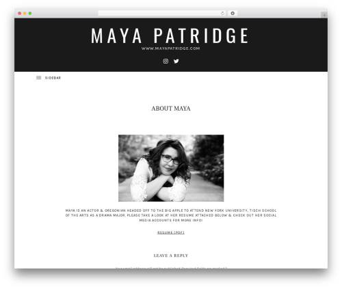Ovation WP template - mayapatridge.com