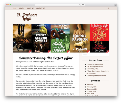Rakiya best free WordPress theme - djacksonleigh.com