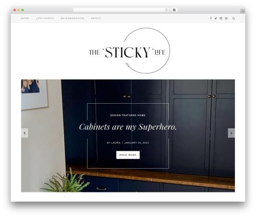 sugar theme WordPress - thestickylife.com