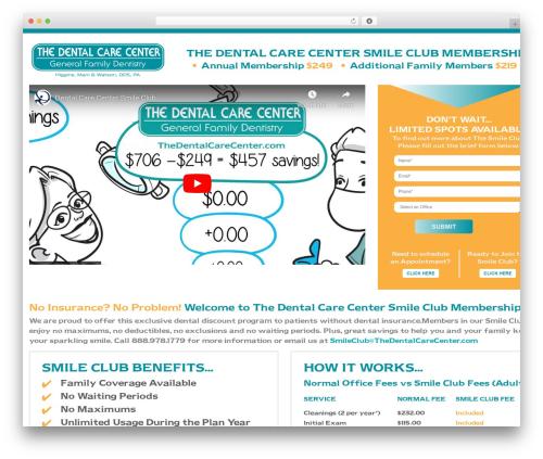 Template WordPress THE DENTAL CARE CENTER - dccsmileclub.com