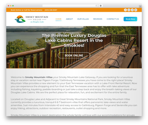 The7 template WordPress - smokymountainvillas.com