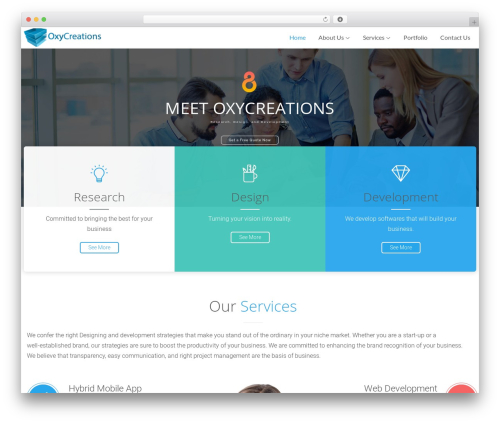 The8 WordPress template for business - oxycreations.com