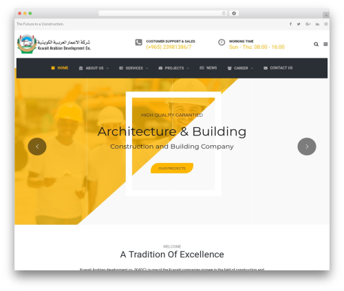 TheBuilt WordPress theme - kadckw.com