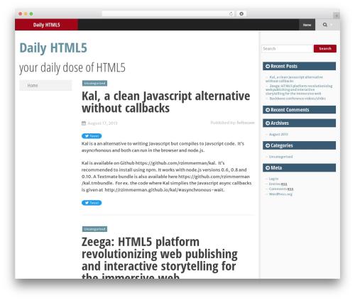 Theme WordPress SmartAdapt - dailyhtml5.com
