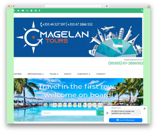 Free WordPress Travel Agency Companion plugin - magelantours.com