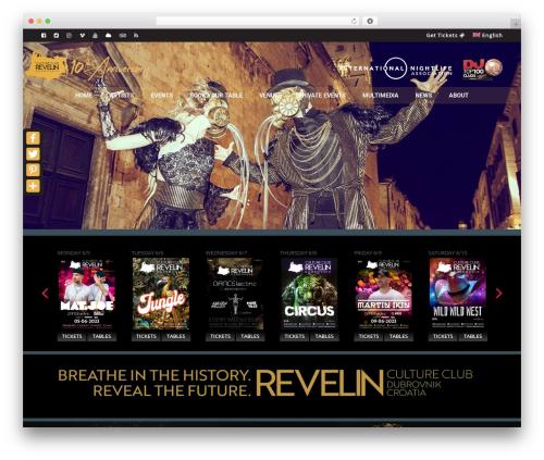 VenueX top WordPress theme - clubrevelin.com