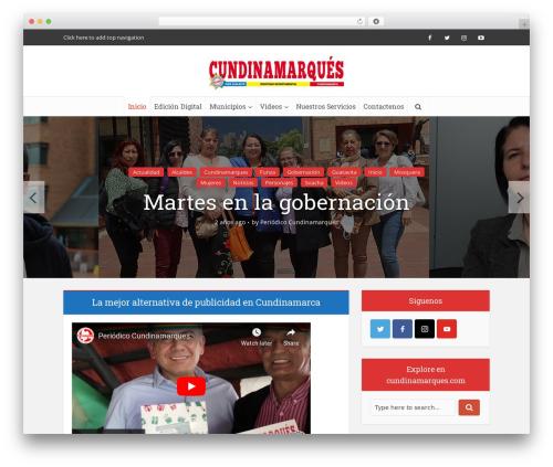 Voice WordPress theme - cundinamarques.com