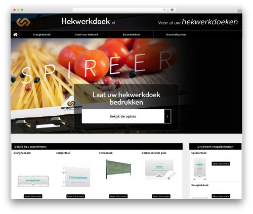 WordPress template Catering - hekwerkdoek.com