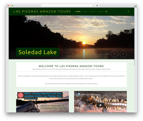 WordPress theme Auberge Plus - laspiedrasamazontour.com