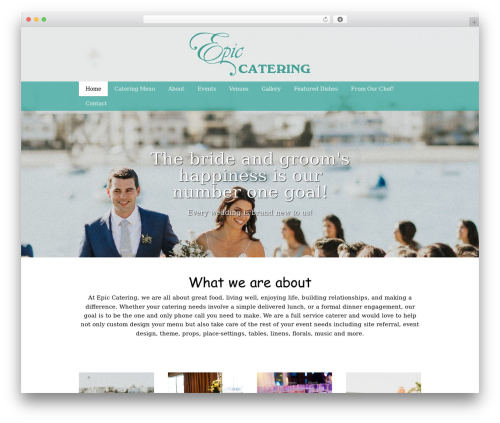 WordPress theme Catering - epiccatering.com