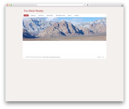 WordPress theme Revival - tru-west.com