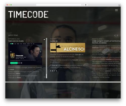 WordPress theme Vysual - timecodeshortfilm.com