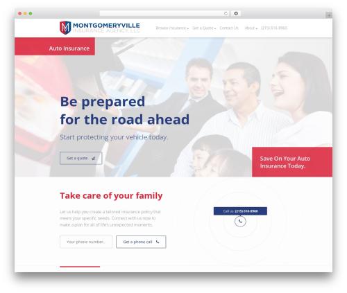 WordPress website template Insurance WordPress Theme - montgomeryvilleinsuranceagency.com