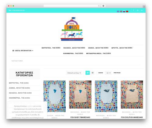XStore WordPress page template - findingdorisbabycreations.com