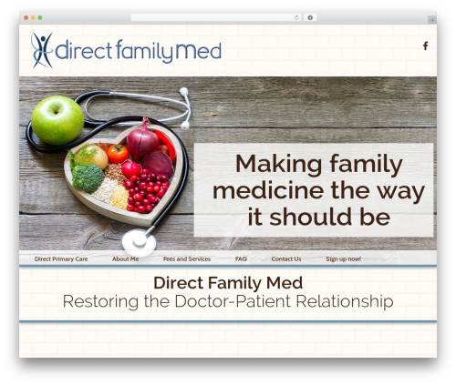 Your Web Layout WordPress page template - directfamilymed.com