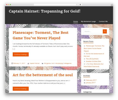 zeePersonal WordPress theme - captainhairnet.com