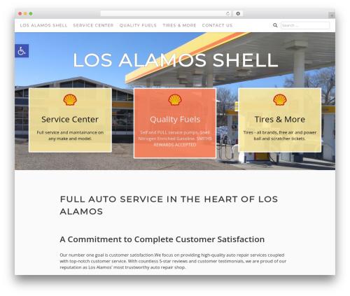 Aaron WordPress theme - losalamosshell.com