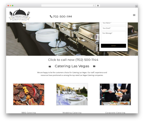 Awe-Ambrosia business WordPress theme - lasvegascater.com