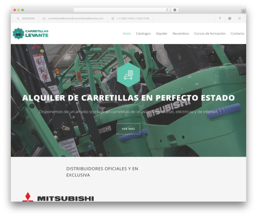 Carservice best WordPress template - carretillasdellevante.com