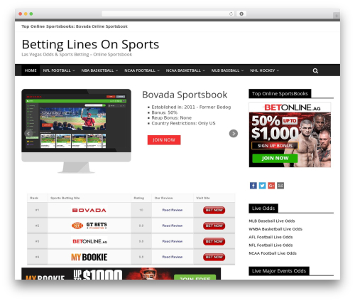 ColorMag WordPress template free - bettinglinesonsports.com