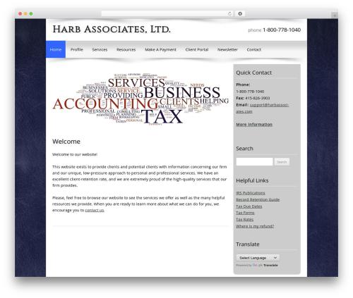 Customized business WordPress theme - harbassociates.com