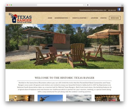Divi WordPress page template - texasrangermotel.com
