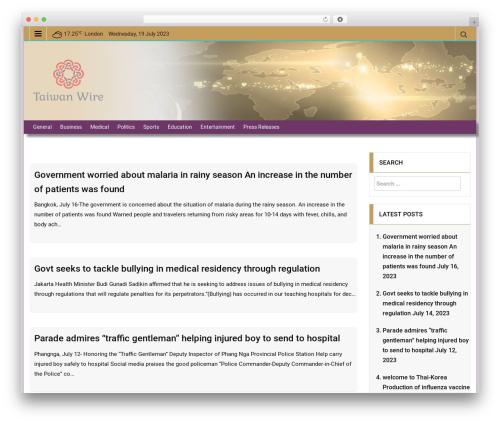 EasyMag WordPress template free download - taiwanwire.com