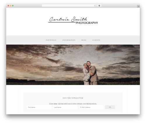 Faithful Theme WordPress photo theme - cortniesmithphotography.com