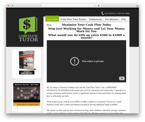 Freely best WordPress template - cashflowtutor.com