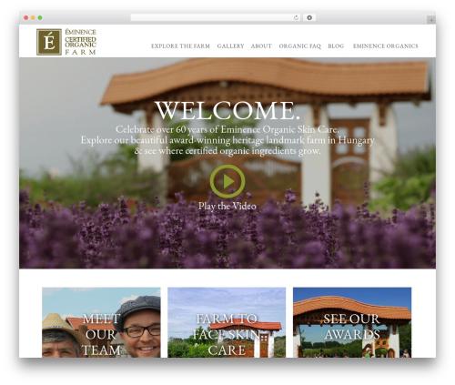 Ibuki top WordPress theme - eminenceorganicfarm.com